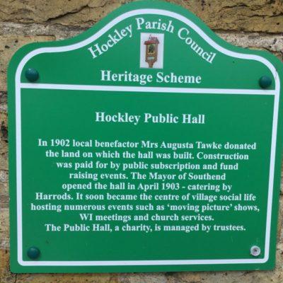 Public Hall Plaque