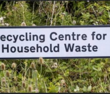 Recycling Centre Signpost