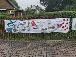 Ve Day Banner At Hall