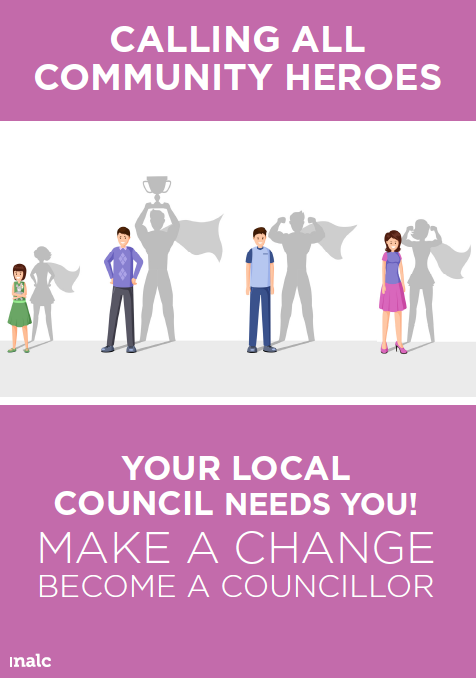 Become A Councillor Poster By Nalc